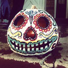 Ooo...Dia de Los Muertos inspired Pumpkin!! // Mixie Studio