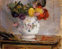 Berthe Morisot (1841-1895). Dahlias (1876)