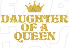 Daughter of a queen INSTANT DOWNLOAD digital clip art DIY for shirt :: My Heart Has Ears