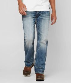 248d5f70 Rock Revival Men's Aubin Relaxed Straight Jeans 33 Preowned ...