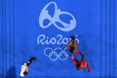 Julio Cesar La Cruz (R) of Cuba fights against Adilbek Niyazymbetov of Kazakhstan during the Men's Light Heavy (81kg) Gold Medal bout on Day 13 of the 2016 Rio Olympic Games at Riocentro - Pavilion 6 on August 18, 2016 in Rio de Janeiro, Brazil.
