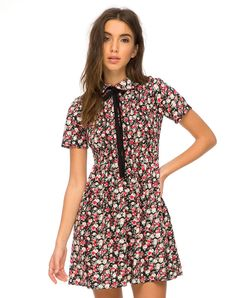 Tatyana Babydoll Dress in Courtney Floral by Motel