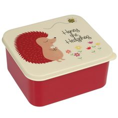 Children's Lunch Box - Honey the Hedgehog Plastic Lunch Boxes, Boite A Lunch, Funky Design, Insulated Lunch Bags, Box With Lid, Recycle Plastic Bottles, Baby Kind, Bunt, Hedgehog