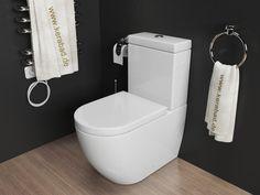 Design Stand WC Kombination Toilette inkl. Spülkasten Duroplast WC SItz KB76A | eBay 199€