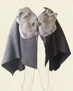 Wool and fur cloak, because Winter is Coming