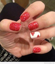 Valentine day nails pinterest idea