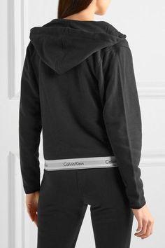 Calvin Klein Underwear - Modern Cotton-jersey Hooded Sweatshirt - Black - x small