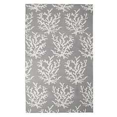 Graphically inspired by sea life. Z Gallerie's Sea Coral Dhurrie Rug in Fog, $149.95 - $699.95