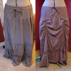 DIY Steampunk skirt. LOVE IT!