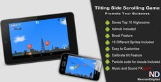 Buy Tilting Side Scrolling Game - Promote Any Business by neurondigital on CodeCanyon. This is a native Android side scrolling game that uses the device accelerometer to control a plane. The aim of the pl. Android O, Mobile App Templates, Tilt, Promotion, How To Make Money, Balloons, Coding, Sprites, Games