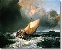 dutch boats in gale - j.m.w. turner 1801