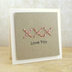 cute use of baker twine and a way to use up those eyelets!