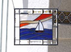 SMOOTH SAILING Contemporary Stained Glass Window by gallerydelsol