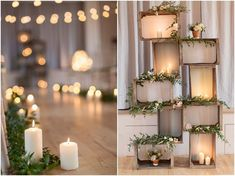Candles | Fairy Lights | Wooden Crates | Wedding Inspiration | Wedding Ideas |