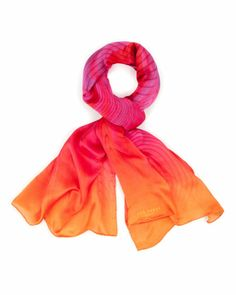 ADELIC - Wave print scarf - Deep Pink | Womens | Ted Baker UK
