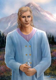 Adama of Lemuria.  Mt. Shasta behind him.  Love and Light