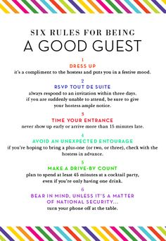 6 rules for being a good house guest,