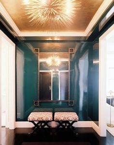Would love to do something dramatic in the front entry.  High gloss hallway or entry in a deep jewel tone.  Lilly Bunn Weekes Renovates a Prewar Apartment on New Yorks Upper East Side