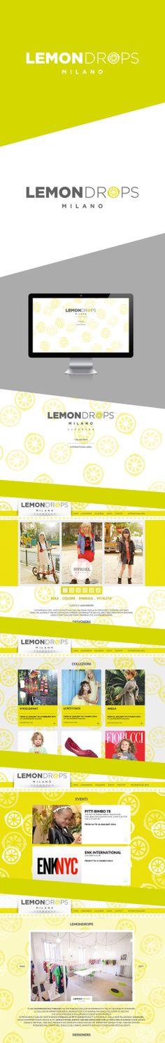 LEMONDROPS MILANO / Web Design 2013  DESIGN BY HOUKART http://www.houkart.com #Design #Houkart #Web #lemondropsMilano #showroom