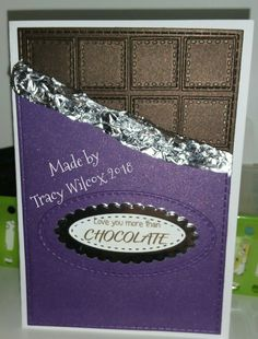 Handmade chocolate card