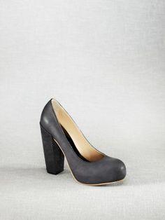 chunky heel pump--Acne