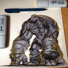 Monkey mode? #battleberzerkerbalto #markers #ink #sketch #coffee #makestuff…