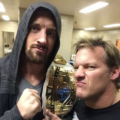 WWE Intercontinental Champion Bad News Barrett and Chris Jericho