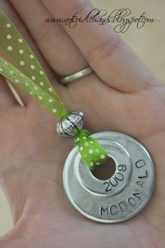 DIY washer necklaces - Click image to find more DIY & Crafts Pinterest pins