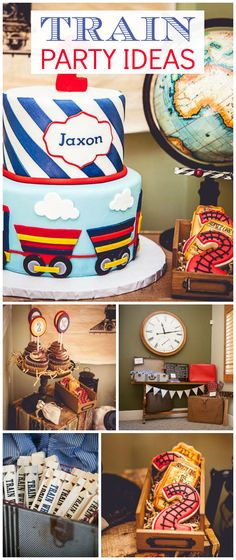 Do you love vintage trains? Here's a party you'll want to see! See more party planning ideas at CatchMyParty.com!