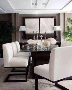 Modern white chairs
