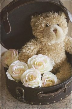 Teddy bear in a hat box... Here's an idea for you ;)