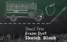 graphic showing chalkboard-look from School U theme in our photo editor