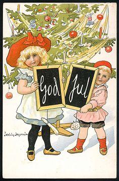 Julkort av Jenny Nyström. Stämplat 1907.