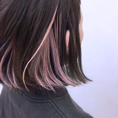 Choose an Elegant Waterfall Hairstyle For Your Next Event, hairstyle for school, Waterfall Hairstyle, Underlights Hair, Aesthetic Hair, Dye My Hair, Ombre Hair, Pink Hair Streaks, Hair Day, Hair Looks, Bob Hairstyles