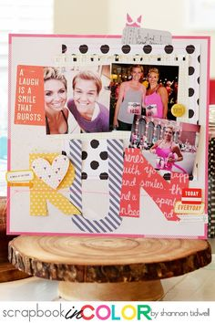 Scrapbook In Color | RUN Layout by Shannon Tidwell
