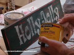 How To Make Custom Distressed Wooden Signs -                                                                                                                                                                                 More