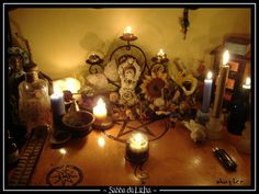 Litha altar 2009 by Skayler