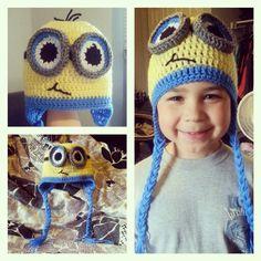 Crocheted minion hat!