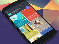 Raindrop Android app (Material design) by Mussabekov Rustem