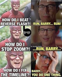 RV: Barry, Wally, Jessie, you run. Cisco, you vibe. Catlian you jump off a building and die. I have telekinesis and the ability to change the future. I shouldn't have said part of that should I. Oops.
