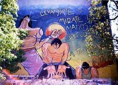 Grafiti de los 90, Santiago, Chile, foto por luz:alhucema