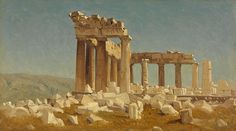 Sanford Robinson Gifford (American, 1823–1880), The Parthenon, May 10, 1869, oil on canvas, 6 5/8 x 11 5/8 inches. Collection of Middlebury College Museum of Art. Purchased with funds provided by the Christian A. Johnson Memorial Art Acquisition Fund, 2016.102.