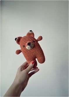 Crochet fox. (Inspiration)