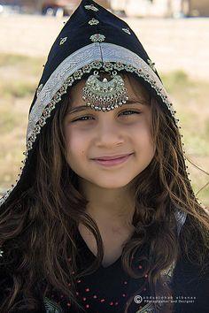 Yemeni Girl in Traditional custom-