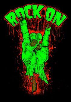 design of a zombie hand rocker style Fille Heavy Metal, Arte Heavy Metal, Arte Zombie, Rock Band Posters, Dope Cartoon Art, Skull Wallpaper, Scary Art, Pop Rock, Music Artwork