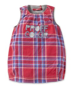 Take a look at this Red Plaid Darah Dress - Infant, Toddler & Girls by Oilily on #zulily today!