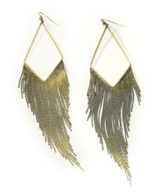 Diamond Fringe Earrings. These Remind Me Of A Vintage 70's Glam Pair I Rocked And Then Lost In Vegas. Boo!