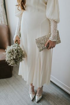 Dried flower bridal wedding bouquet | London Peckham Pub Wedding and Vintage Bride by We Heart Pictures Photography