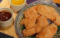 Honey Sriracha Chicken Tenders Baked Panko Simple Five Ingredient Friday