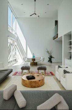 Un salon contemporain. l aménagement pour salon l décoration d ...